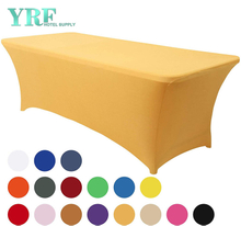 "Rectangular Stretch Spandex Table Cover Gold 4ft/48""L x 24""W x 30""H Polyester For Hotel"
