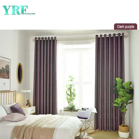 Hotel Apartment Solid Color Blackout Fire Retardant Living Room Curtains