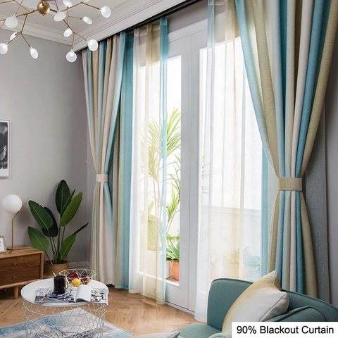 Luxurious Blackout Rooms Plain Color Villa Drapes