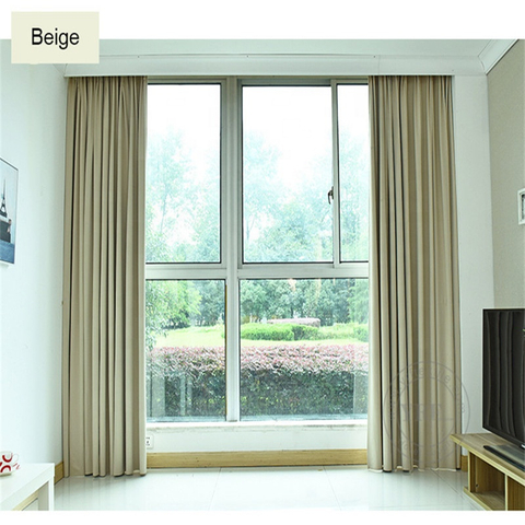 Hotel Apartment Plain Color Blackout Fire Retardant Bedroom Curtain