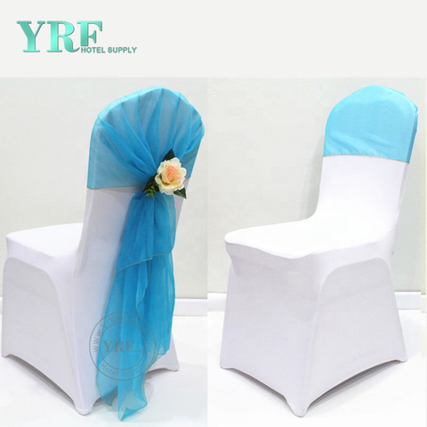 YRF Wedding Banquet White Spandex Folding Chair Covers
