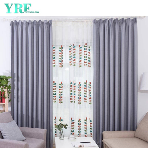 College Plain Color Blackout Flame Retardant Room Window Curtain