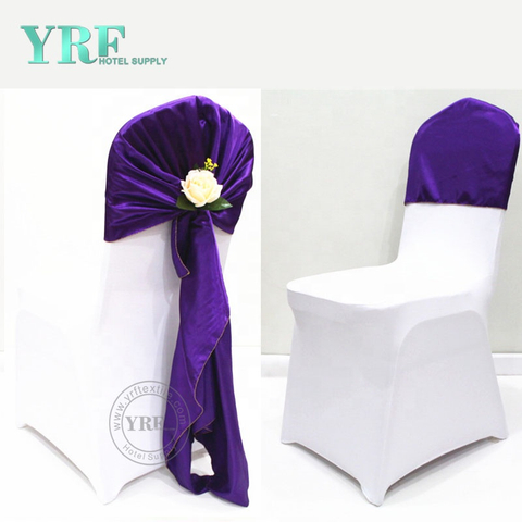 YRF Hot Sale Dining Chair Cover White Wedding Elegant Chair Cover