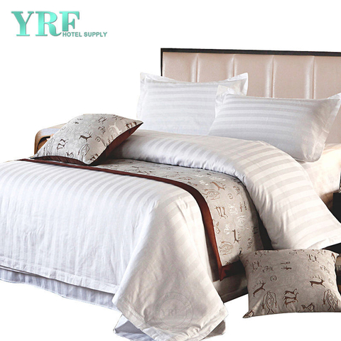 Luxury White Soft Polycotton Hotel Quality 4PCS Bedding For Apartment