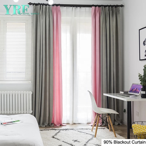 Apartment Plain Color Black Out Flame Retardant Room Window Curtain