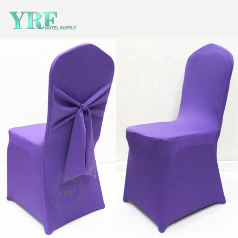 YRF Wedding Half Chair Cover Purple Skirt Chair Cover