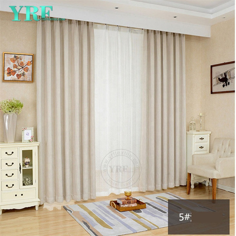 Hotel Solid Color Black Out Fire Retardant Living Room Curtains