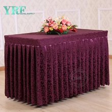 YRF Factory Supply Custom Banquet Table Skirt For Banquet