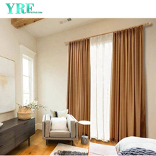 Motel Solid Color Black Out Fire Retardant Room Window Window Curtains