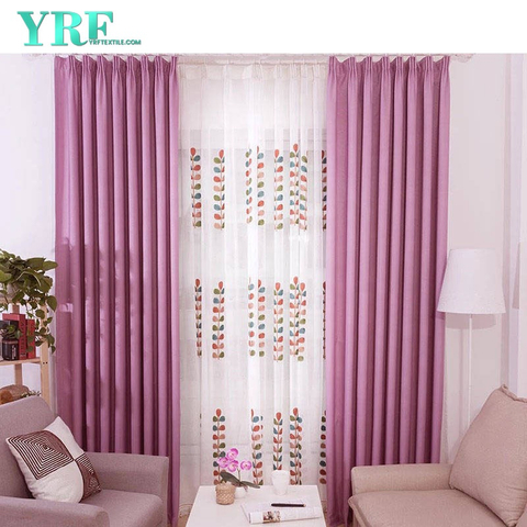 Hotel Window Curtains Style Modern Design Breathable For Project