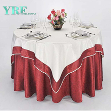 YRF Factory Sale 5 Star Hotel Square Table Cloth White Jacquard