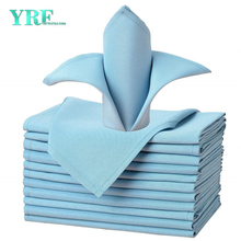"Dinner Napkin Light Blue 17x17"" Inch Pure 100% Polyester Washable and Reusable For Hotel"