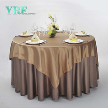 YRF Customized Table Cloth Square Luxury 100% Polyester Party