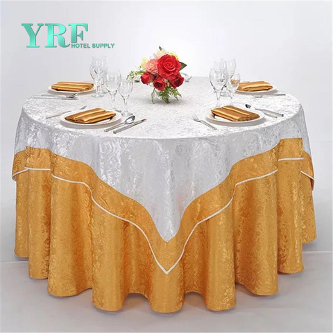YRF Wedding Table Cover Round 8ft Orange Cheap