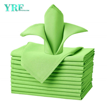 "Napkins Cloths Apple Green 17x17"" Inch Pure 100% Polyester Washable and Reusable for Weddings"