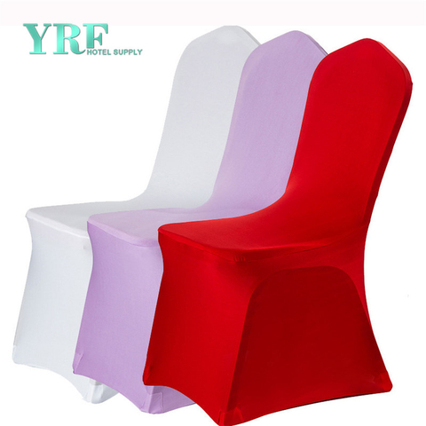 Stretch Spandex Protector Dining Room Chair Covers Thick White Polyester For Wedding Party Banquet