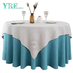 YRF Table cloth Hotel Banquet 4ft Sky Blue 100% Polyester Round