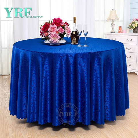 YRF Table Cover Plain Dyed Round BlueDiscount Wedding