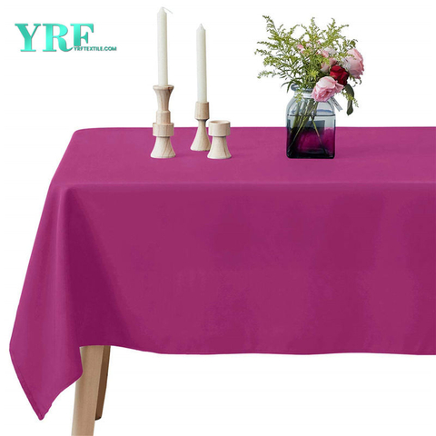 Rectangle Table Cloth Pure Fuchsia 90x156 inch 100% Polyester Wrinkle Free for Hotel