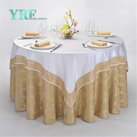 YRF China Wholesale Hotel Apartment Square Table Cloth Yellow Yarn Dyed