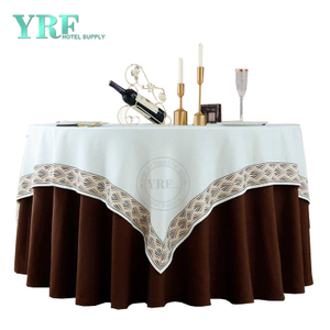 "YRF Table Cover Hotel Party 132"" linen 100% Polyester Round"