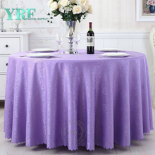 "YRF Discount 5 Star Hotel jacquard 120"" Rounde Wedding Table Cloth"