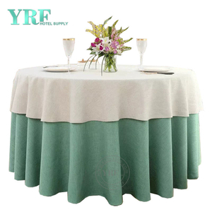 YRF Table Cover Hotel Birthday 8ft linen Polyester Round