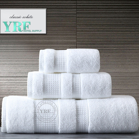 White Absorbent Practical Great 100% Cotton Hotel Shower Towel Made in China