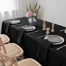 "Cotton Napkins Cloths Pure Black 20x20"" Inch Pure Washable and Reusable For Weddings"
