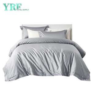 High Quality Wholesale Twin XL 3PCS Egyptian Cotton Silver Hotel Bedding Sets