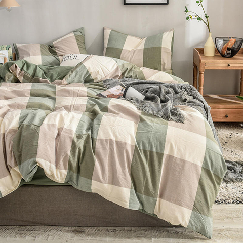 New Product Home Collection Gingham New Product Cotton Bedding