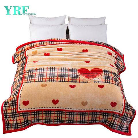Modern Design Fleece Blanket Dual-Sided Fleece Plaid Micro Nontoxic Harmless