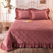 New Product Cover Bedspread Comforter Queen Cover Set Dark Red for All Season