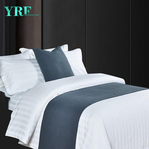 Hotel Bedroom Thickened Modern Simple Ramie Cotton Dark grey Decorate Bed Flags