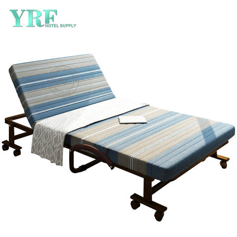 Homestay Folding Bed Extra Lightweight Memory Foam Topper Blue striped 74 x 47 Inch
