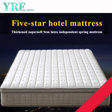 Full Luxurious Bedroom Mattress Fiber Innerspring Hybrid Firm