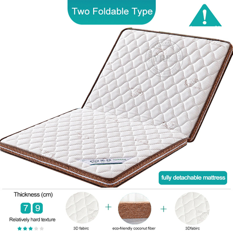 Home Foam Sleeping Tatami Folding Detachable Washable 6CM Double bed