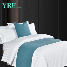 Hotel Bed King Size Customized Logo linen Decorate Pure Color Bed Flags