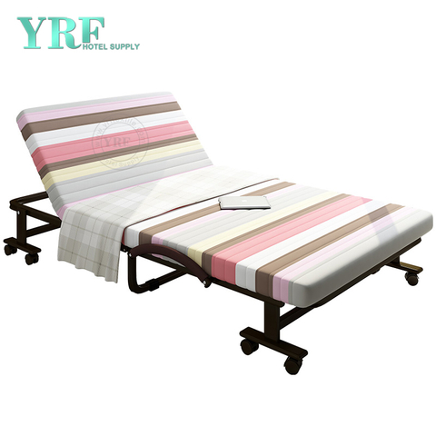 Home Folding Bed Extra Lightweight Latex Foam Mattress Pink striped Twin Size