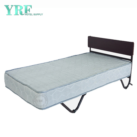Dorm Folding Bed Spare Rollaway Foam Mattress Super Sturdy Frame Single Bed