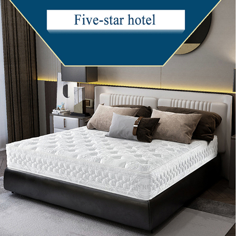 Star Hotel Bedroom Spring Mattress Latex High Quality For Single Bed