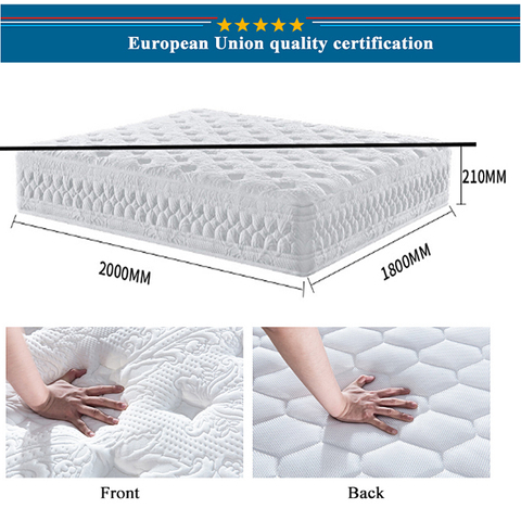 Star Hotel Bedroom Spring Mattress Memory Foam Compressed For Double Bed