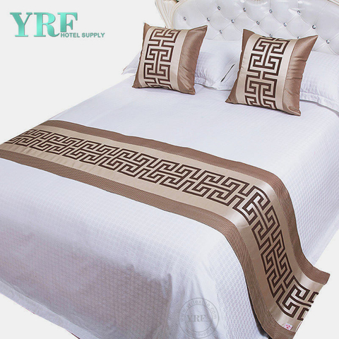 Hotel Bed New Style Precision Sateen Single Room Decorate Brown Bed Flags