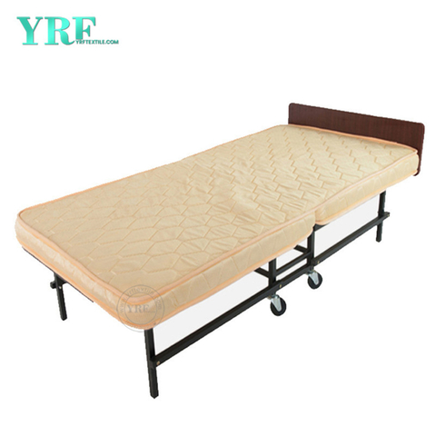 Apartment Folding Bed Spare Lightweight Memory Mattress on Wheels Twin Size