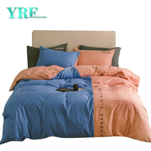Bedsheet 3 Piece Single Bed Polyester Fabric Solid Color For Home Textile