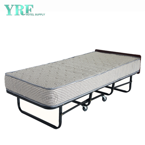 Hotel Folding Bed Spare on Wheels Rollaway Sturdy Metal Frame Twin